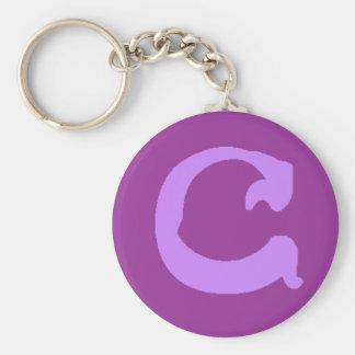 C (Lavender) Keychain