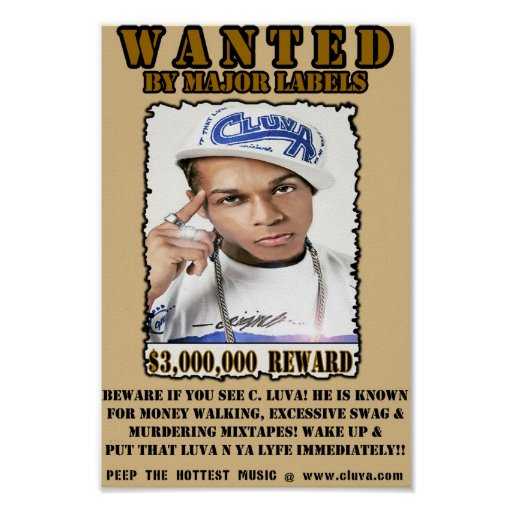 C. Luva Wanted Poster