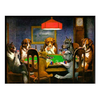 C. M. Coolidge Dogs Pets Poker Cards Humor Destiny