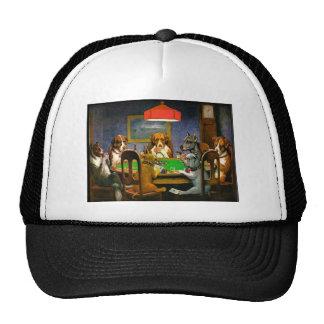 C. M. Coolidge Dogs Pets Poker Cards Humor Destiny Trucker Hat