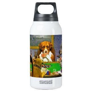 C. M. Coolidge Dogs Pets Poker Cards Humor Destiny Insulated Water Bottle