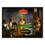 C.M. Coolidge Dogs Playing Poker Poster