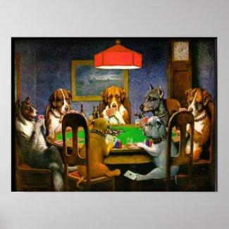 C.M. Coolidge Dogs Playing Poker