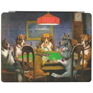 C.M. Perros de Coolidge que juegan el póker Cubierta De iPad