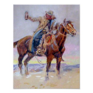 C.M. Russell Western Cowboy Poster