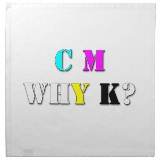 ¿C.M.WHY.K? SERVILLETA IMPRIMIDA
