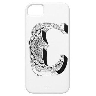 C - Mandala N°1 dentro del alfabeto N°1 Funda Para iPhone SE/5/5s