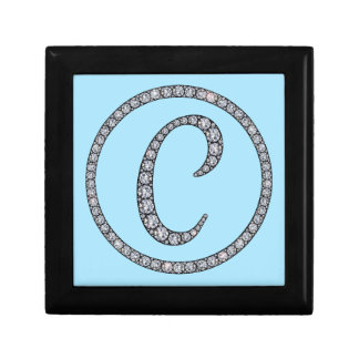 C Monogram bling ring gift box