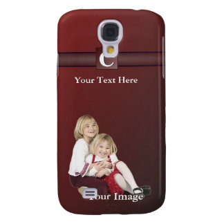 C – Monogram Photo Template Add Your Image & Text Samsung S4 Case