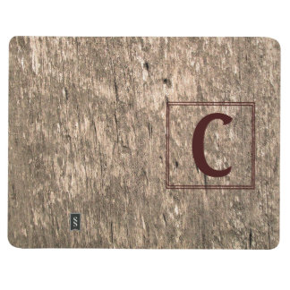 C-Monogrammed Weathered Barnwood Personal Journal