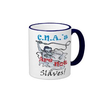 C.N.A.'s Are Not Slaves Ringer Mug
