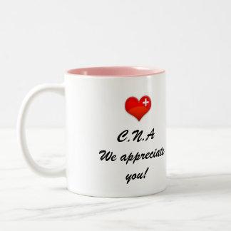 C.N.A we appreciate you Two-Tone Coffee Mug