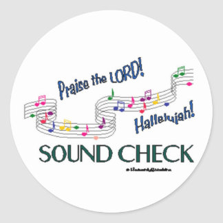 C Notes Sound Check Stickers