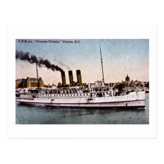 "C.P.R., s.s. ""Princess Victoria"", Victoria, B.C. Postcard"