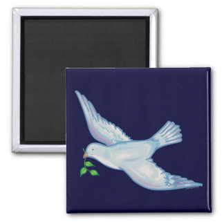 C - Paloma de la paz Imán Cuadrado