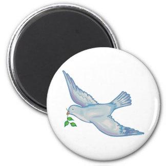 C - Paloma de la paz Imán Redondo 5 Cm