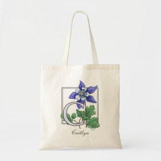C para el bolso del monograma de la flor de bolsa tela barata