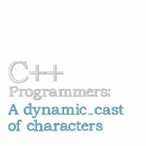 C++ Programmers: A dynamic_cast of characters Embroidered Polo Shirt