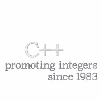 C++: Promoting integers since 1983 Embroidered Shirt