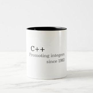 C++: Promoviendo números enteros desde 1983 (taza) Taza Dos Tonos