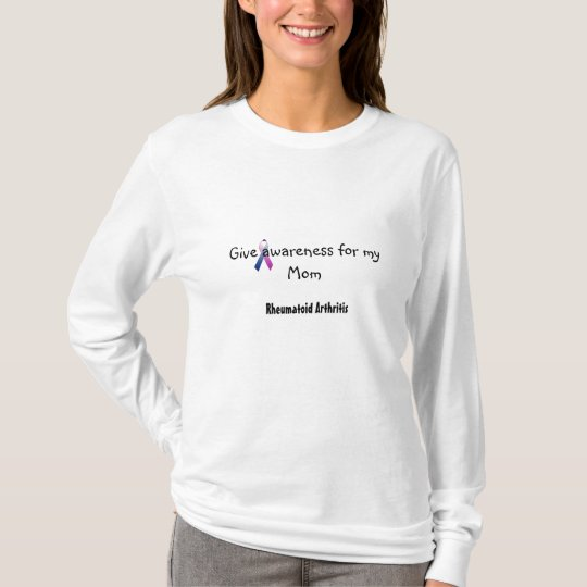 c_purpleblue, Give awareness for my Mom, Rheuma... T-Shirt