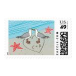 C & R beach seagull stamp