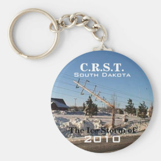C.R.S.T., SD - Ice Storm of 2010 Basic Round Button Keychain