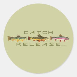 C & R - Trout Classic Round Sticker