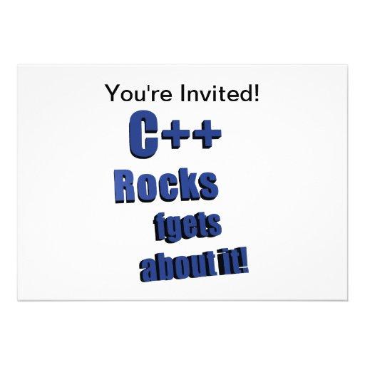 C++ Rocas FGet sobre ella Invitación Personalizada