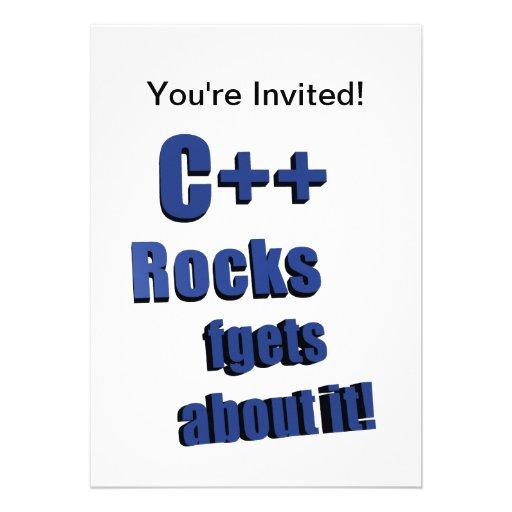 C++ Rocas FGet sobre ella Invitacion Personalizada