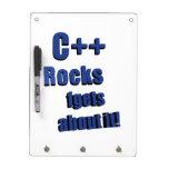 C++ Rocas FGet sobre ella Tablero Blanco