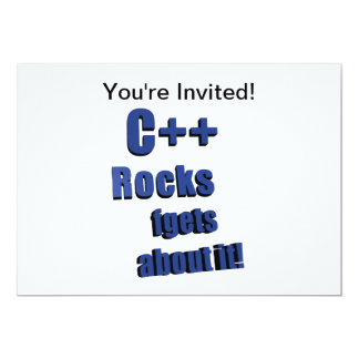 C++ Rocks FGet About It Card