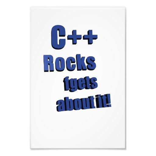 C++ Rocks FGet About It Photo Print