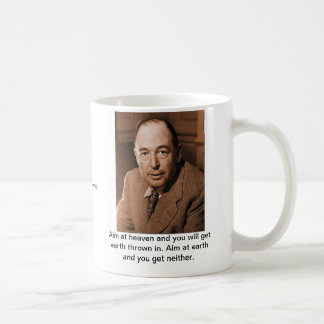 C.S. Lewis: Aim at Heaven Coffee Mug