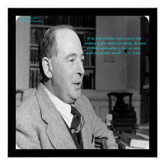 """C.S. Lewis & """"Another World"""" Quote Poster Poster"""