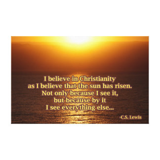 C.S. Lewis Christianity Quote Canvas Print