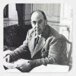 C.S. Lewis Pegatina Cuadrada