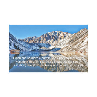 C.S. Lewis quote and Convict Lake Canvas Print