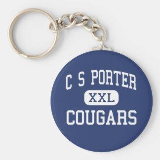 C S Porter Cougars Middle Missoula Montana Basic Round Button Keychain