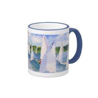 c scows lining up coffee mug