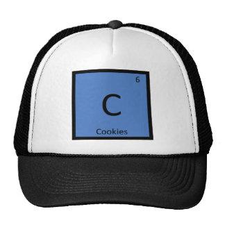 C - Símbolo de la tabla periódica de la química de Gorros Bordados