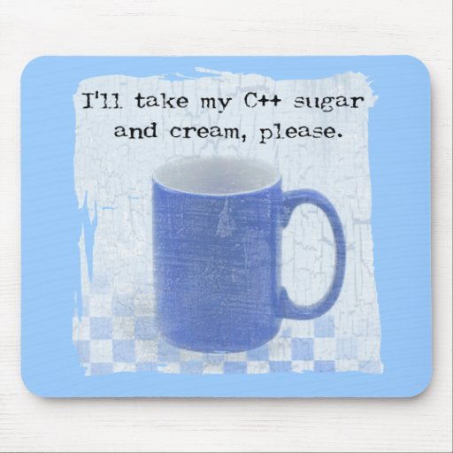 C++ sugar and cream mouse pads