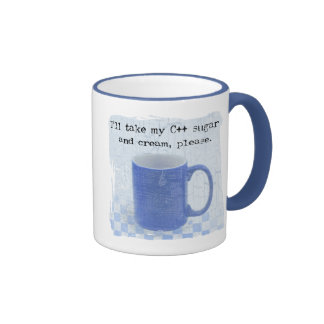 C++ Sugar and Cream Ringer Coffee Mug