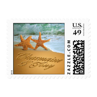 C&T Starfish Couple ASK ME FOR NAMES IN THE SAND Postage
