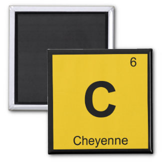 C - Tabla periódica de la química de Cheyenne Wyom Imán Para Frigorifico