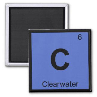 C - Tabla periódica de la química de Clearwater la Imanes Para Frigoríficos