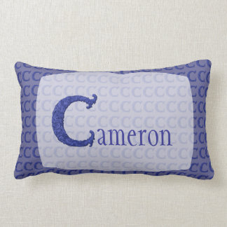 C - The Falck Alphabet (Blue) Lumbar Pillow