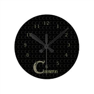 C - The Falck Alphabet (Golden) Round Clock