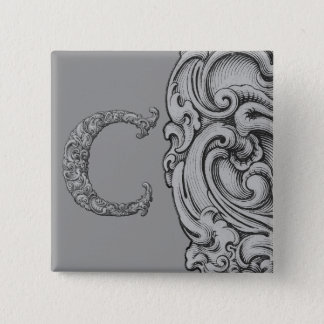 C - The Falck Alphabet (Silvery) Button