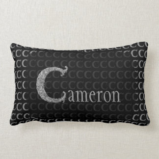 C - The Falck Alphabet (Silvery) Lumbar Pillow